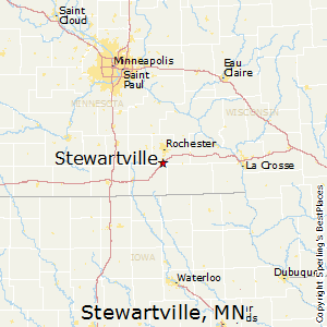 Stewartville,Minnesota Map