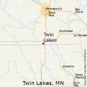 Twin_Lakes,Minnesota Map