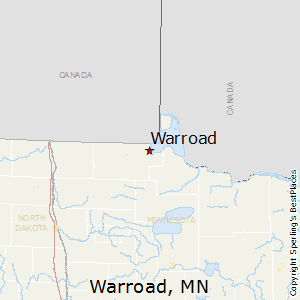 Warroad,Minnesota Map