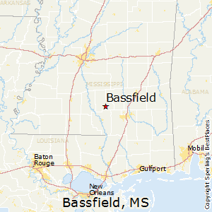 Bassfield,Mississippi Map