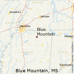 Blue_Mountain,Mississippi Map