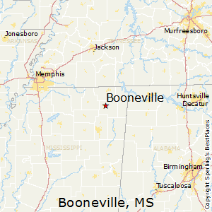Booneville,Mississippi Map