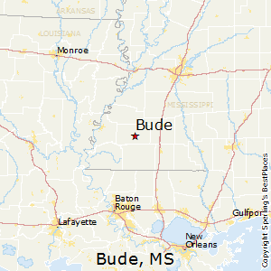 Bude,Mississippi Map