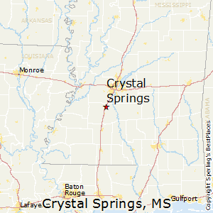 Crystal_Springs,Mississippi Map