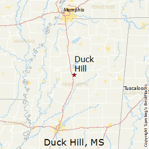 Duck_Hill,Mississippi Map