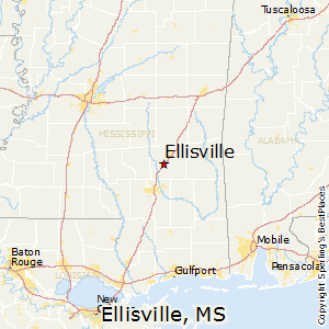 Ellisville,Mississippi Map