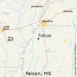 Falcon,Mississippi Map