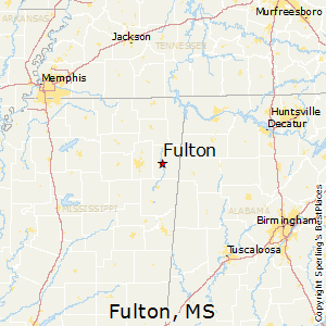 Fulton,Mississippi Map