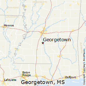 Georgetown,Mississippi Map