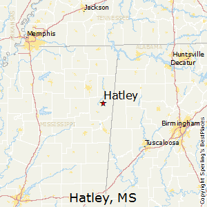 Hatley,Mississippi Map