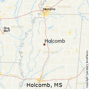Holcomb,Mississippi Map