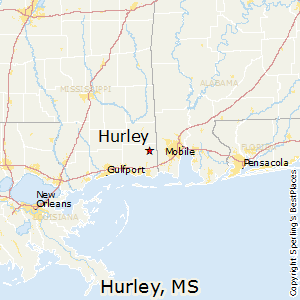 Hurley,Mississippi Map