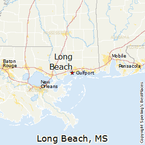 Long Beach Mississippi Map