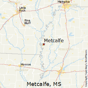 Metcalfe,Mississippi Map