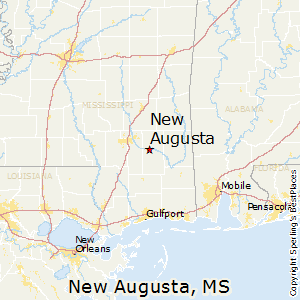 New_Augusta,Mississippi Map