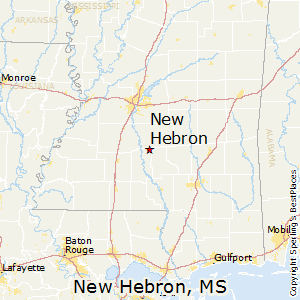 New_Hebron,Mississippi Map