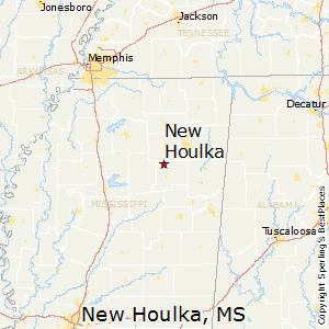 New_Houlka,Mississippi Map