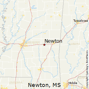 Newton,Mississippi Map
