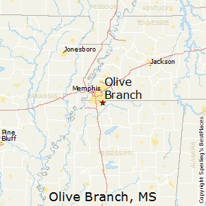 Olive_Branch,Mississippi Map
