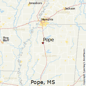 Pope,Mississippi Map