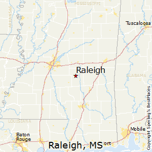 Raleigh,Mississippi Map