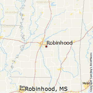 Robinhood,Mississippi Map