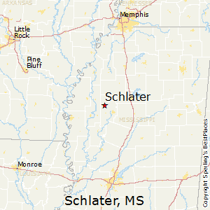 Schlater,Mississippi Map