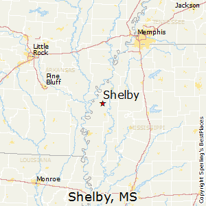 Shelby,Mississippi Map