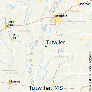 Tutwiler,Mississippi Map