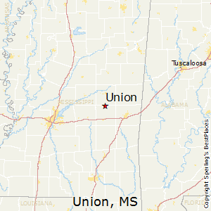Union,Mississippi Map