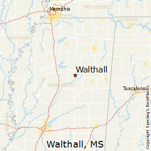 Walthall,Mississippi Map