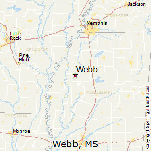 Webb,Mississippi Map