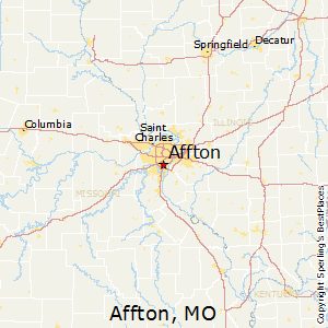 Affton,Missouri Map
