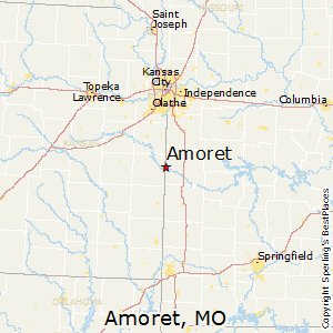 Amoret,Missouri Map