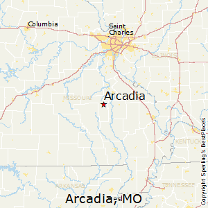 Arcadia,Missouri Map