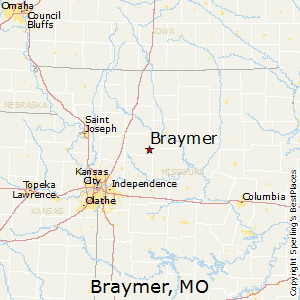 Braymer,Missouri Map