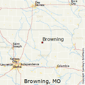 Browning,Missouri Map