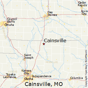 Cainsville,Missouri Map