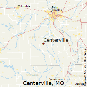Centerville,Missouri Map
