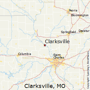 Clarksville,Missouri Map