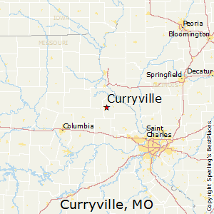 Curryville,Missouri Map