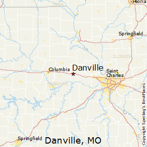 Danville,Missouri Map