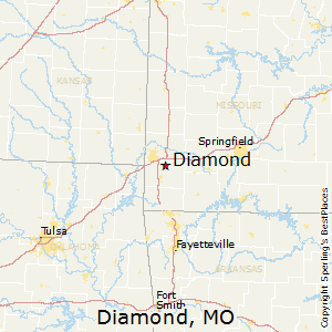 Diamond,Missouri Map