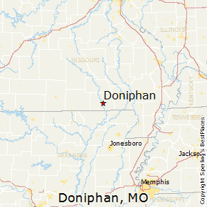 Doniphan,Missouri Map