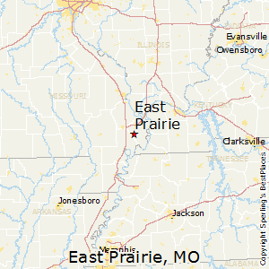 East_Prairie,Missouri Map
