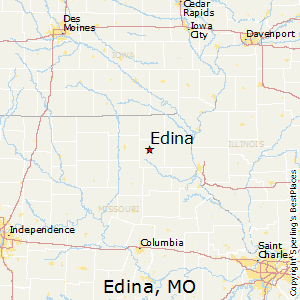 Edina,Missouri Map