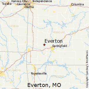 Everton,Missouri Map