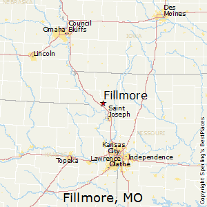 Fillmore,Missouri Map