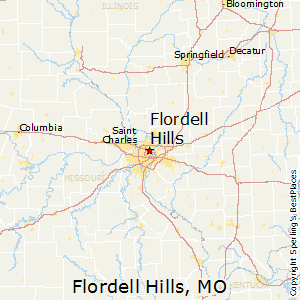 Flordell_Hills,Missouri Map