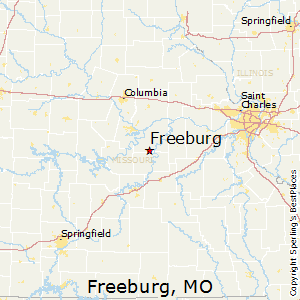Freeburg,Missouri Map